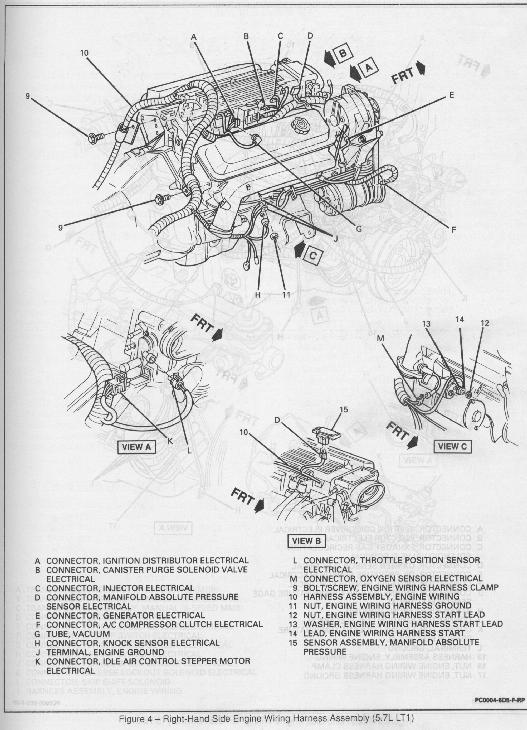 wiring right heads and cam install guide for a 1994 lt 1 1995 lt1 wiring harness diagram at gsmx.co